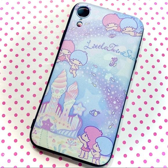 Accessories - Kawaii Under Sea Little Twin Stars iPhone XR Case
